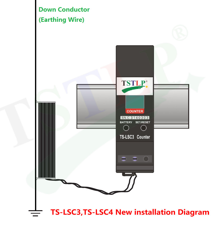 Ts Lsc3 Lsc4 Lightning Arrester Counter China Diagram Of Lighting Installation Flash