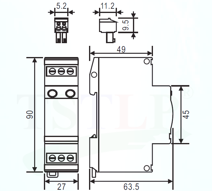 TS-230M5RM-Class-D-Surge-Protection-Device-High-Efficiency